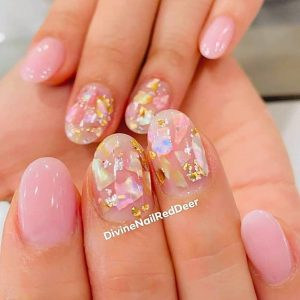 Divine Nails Red Deer - Foil Art Nails