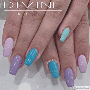 Divine Nails Red Deer - Multicoloured Pastel Nails