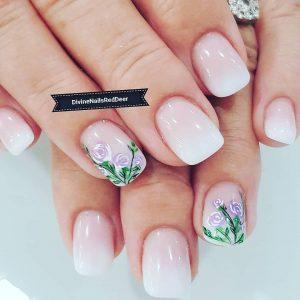 Divine Nails Red Deer - Pastel Flower Nails