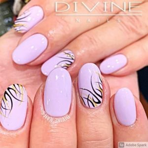Divine Nails Red Deer - Simple Flames Nails
