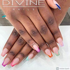Divine Nails Red Deer - V Shaped Tip Nails